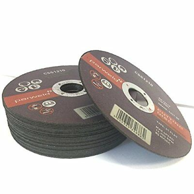 (PACK OF 100) Parweld (5`) 125mm x 1mm Thin stainless Steel Cutting discs ...