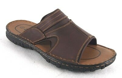 YWing LS070 Men's Leather Lightweight Comfortable Sandals