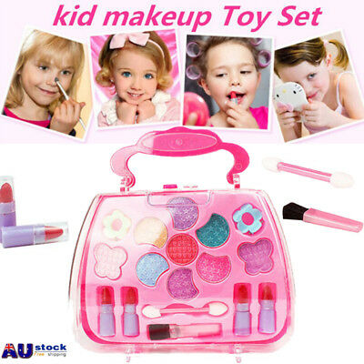 Girl Princess Makeup Set Eco-friendly Cosmetic Pretend Play Kit Kids Toy Gifts
