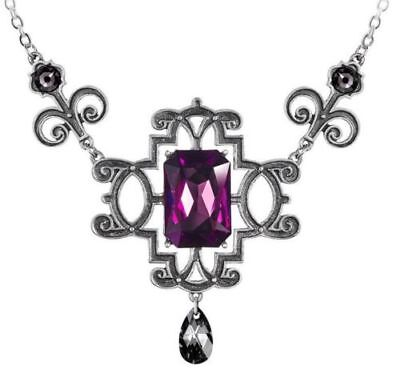 Regiis Martyris Necklace Queen Jane Grey Purple Crystals Alchemy Gothic P863
