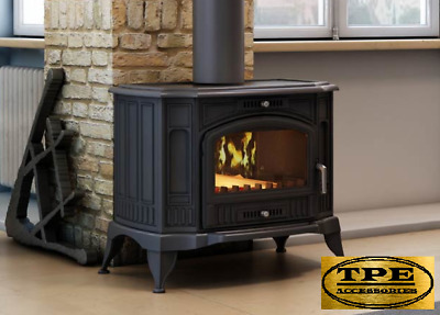 KOZA K9 - Free standing Iron Stove chimney coal,Wood burner 10kw (6-13 KW)