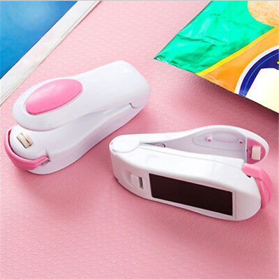 Mini Food Heat Sealing Machine Portable Impulse Packing Bag Sealer Plastic LNAU