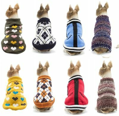 Small Pet Dog Winter Warm Sweater Puppy Coat Clothes Cat Jacket Apparel Costume