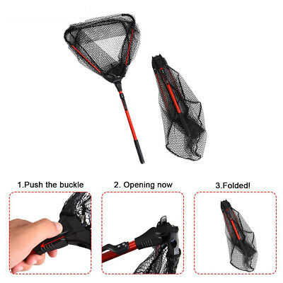 80CM Fishing Net Telescoping Foldable Landing Net Pole Folding Landing Net