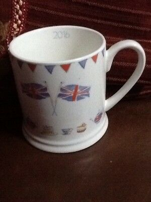 Waitrose Queens Birthday Commemorative Mug Flags Bunting Guard New 2016