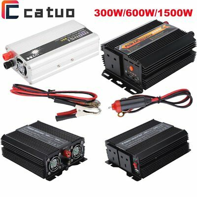 300W/600W/1500W Car Power Inverter DC 12V to 230V AC Charger Converter UK PLUG