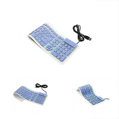 Portable Wired USB Keyboard Silicone Silent Waterproof Keyboards For Computer