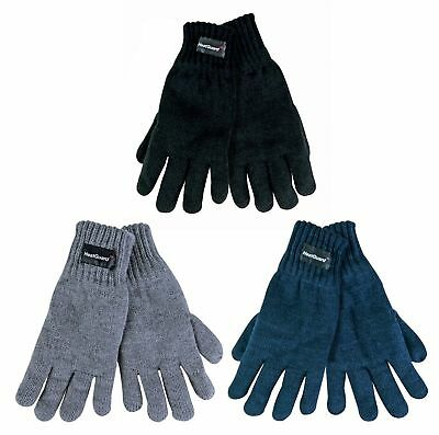 Childrens Kids Boys Girls HEAT GUARD 3M Thinsulate Knitted Lined Gloves Winter