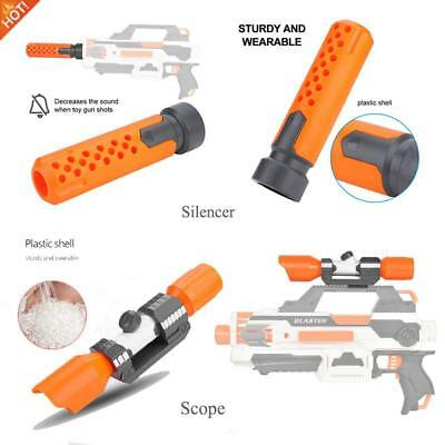 Plastic Tactical Distance Scope Sight/ Silencer for Nerf Blaster MOD Modify Toy