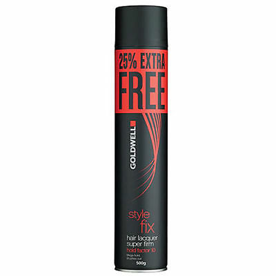 2 x Goldwell Style Fix Hair Lacquer Super Firm Hair Spray 500g