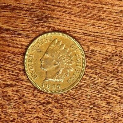 1887 INDIAN HEAD CENT - Red-Brown BU #2079