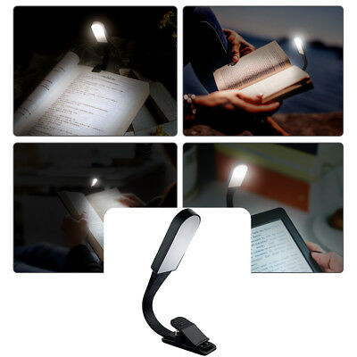 Flexible USB Rechargeable LED Book Light Flexible Clip On Book Reading Lamp