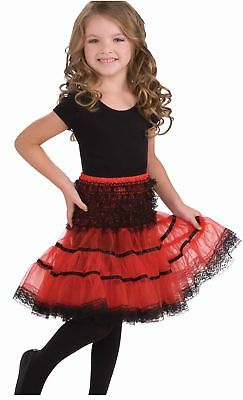 Red & Black Costume Crinoline Slip Child One Size Fits Most One Size