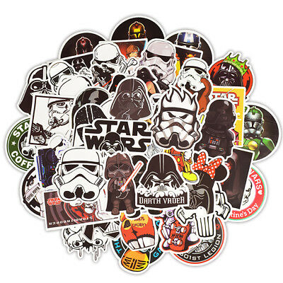 50Pcs Game Star Wars Stickers Skateboard Graffiti Laptop Luggage Car Decals
