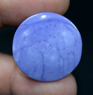 23.10 Cts 100% Natural Purple Charoite Round Cabochon 27*4 mm Loose Gemstone