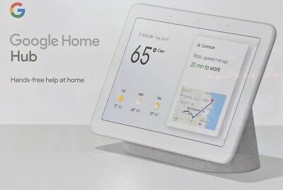 "Sealed New Google Home Hub with Google Assistant Smart 7"" Display - Chalk"