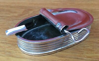 Good Quality Edwardian Silver Plated Sardine Tin Ashtray Possibly Asprey?