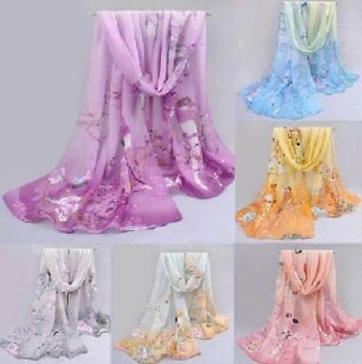2019 New Fashion Chiffon Women Ladies Spring Scarf Neck Shawl Bird Scarves Wrap