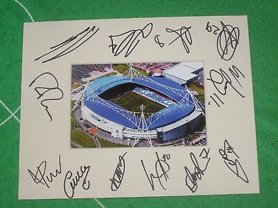 Bolton Wanderers FC Mount Multi-Signed x 12 2018/19 First Team Squad