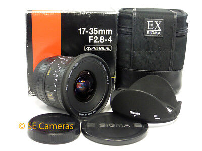 Canon Ef Eos Sigma Ex 17-35Mm F2.8-4 Dc Hsm Ultra Wide Zoom Lens *excellent*