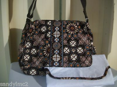 350f9e10d0f6 Vera Bradley Messenger Baby Bag Shoulder Tote Campus Tote Canyon NEW WITH  TAGS
