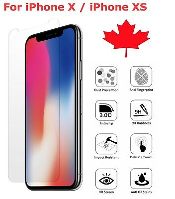 Premium Tempered Glass Screen Protector for Apple iPhone 11 Pro X XS