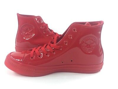 769fabd1157 NEW Converse CTAS Hi Casino Red Shoes Sneakers Patent Leather Size 11.5  153229C
