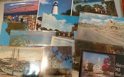 Lot of (50) Vintage Postcards Of All 50 United States Mostly Unposted