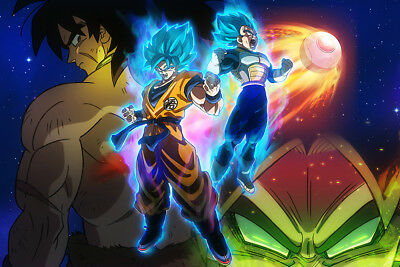 "Dragon Ball Super Broly Poster 32x48"" Movie Huge Fabric Print"