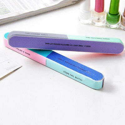 Function Print Nail File Sanding Buffer Polishing Manicure Tool GOOD GIFT