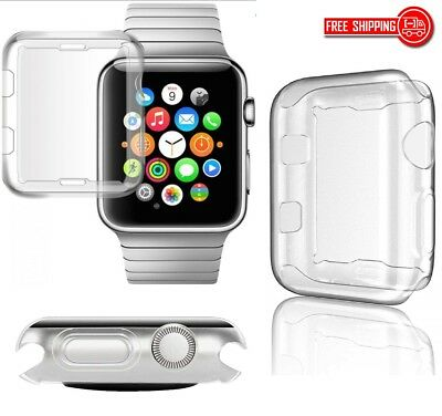 38/42mm USA Apple Watch iWatch Clear Screen Protector Cover TPU Case Series 3