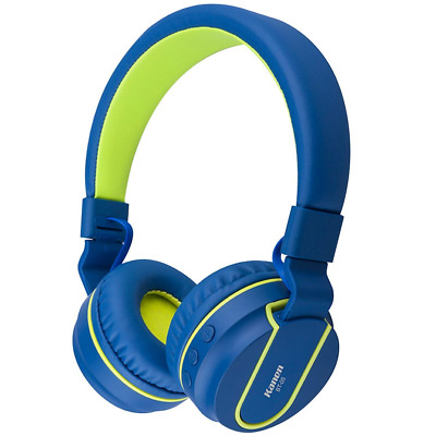 Bluetooth Headphones Slim Stereo Foldable Wireless Headset With Micr Blue Green