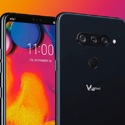LG V40 ThinQ LM-V405UA - 64GB - Aurora Black (Sprint) ALL GSM Unlocked WORLDWIDE