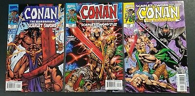 Conan the Barbarian: Scarlet Sword #1-3 Complete Set Marvel Comics 1998 VF/NM
