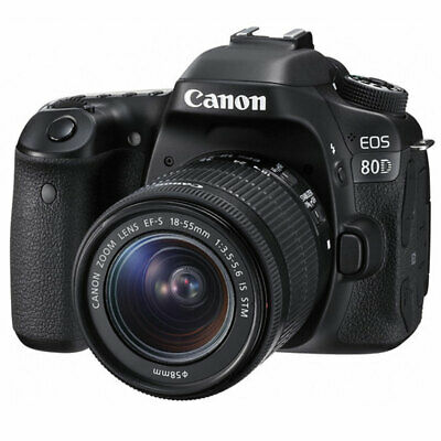 Canon EOS 80D 24.2MP DSLR Camera With EF-S 18-55mm f/3.5-5.6 IS STM Lens -SUPER!