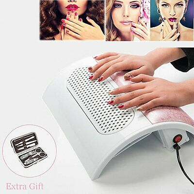 Nail Dust Suction Collector With 3 Fan Vacuum Cleaner Manicure Tools Free Gift