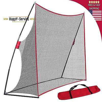 Golf Net Portable Hitting Driving Practice 10x7ft Target Bag Chipping Training