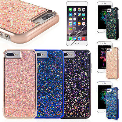 For iPhone 6/7/7Plus Pink Glitter Bling Sparkle Cute Protective Phone Case Cover