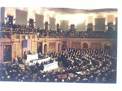 vintage postcard joint session of U. S. Congress Mid 20th century