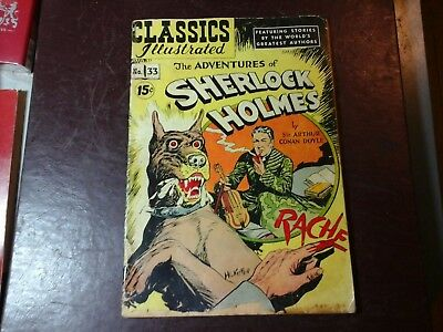 The adventures of sherlock holmes no.33 comic book from 1944