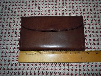 Vintage COACH Dark Brown Women's Organizer Wallet w. checkbook insert PRISTINE!