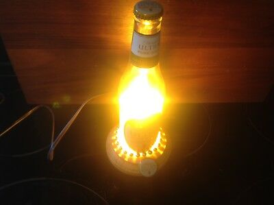 Handmade Michelob Ultra Pure Gold Beer Bottle Table Lamp Decoration, Beer Lamp/