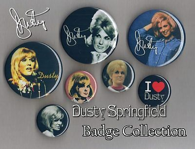 Dusty Springfield - Badge Collection Set 2 - Free Post - Dusty