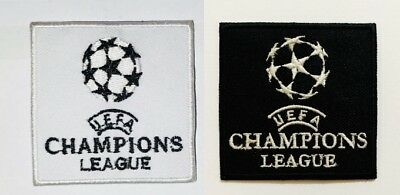 UEFA Champions League Black White Patch Badge Embroidered Iron ON Sew On N-504