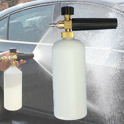 "1L Pressure Washer Jet Wash 1/4"" Quick Release Adjustable Snow Foam Lance"