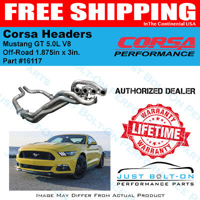 CORSA 1.875in. x 3in. Headers Off-Road Pipes 2015-2017 Mustang GT 5.0L V8 #16117