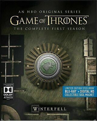 Game of Thrones - The Complete First Season - Ltd.Ed. SteelBook [Blu-ray] New!!!