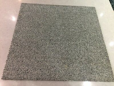 60 Grey Speckled Heavy Duty Carpet Tiles-Covers 15 Square Metres-Grade C