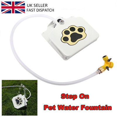 Durable Outdoor Pet Doggie Water Fountain Step-on Fresh Cold Drinking Water UK