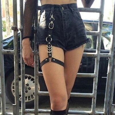 Metal Leg Chain Punk Style Leg Ring Adjustable Belt Leather Sexy Style Hot GA